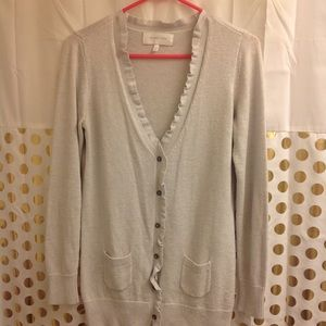 Victoria's Secret Cardigan Sweater M silver metall